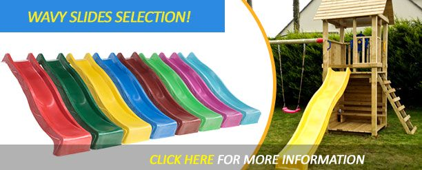 Wavy Slides in various sizes and colours!