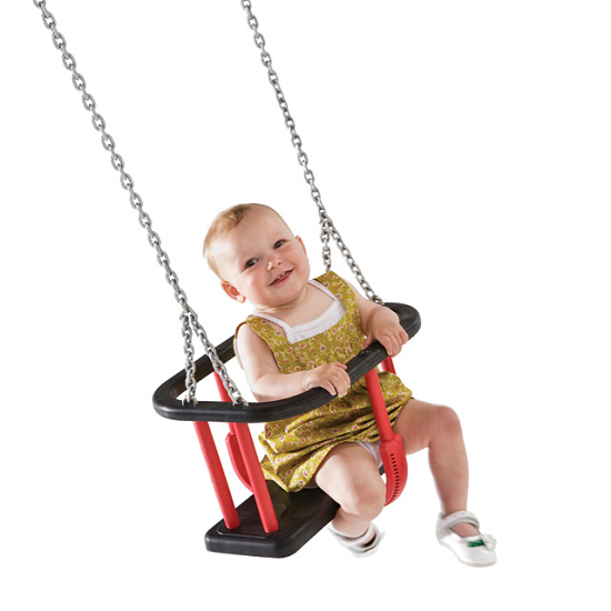 Swinging Commercial Baby Swing Seat With Chainset