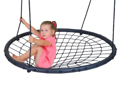 Large Nest Swing Children Kids Round Nest Tree Swing Large Seat Hammocks Outdoor Climbing Frame Play Equipment 100cm Netted Swings3