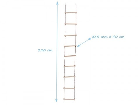 childrens rope ladder 9 steps wooden rungs swing climb rope ladder kids for tree house climbing frame