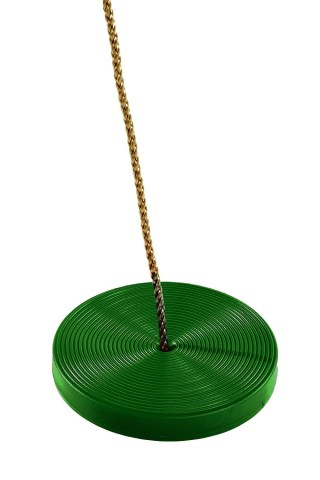 green button plate round disc swing seat for kids childrens swing seat