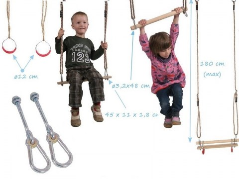 gymnastic set trapeze gymnastic bar swing set