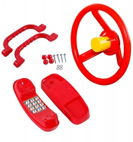 set of 3 accessories for climbing frame bundle price deal steering wheel handles handgrips phone plastic