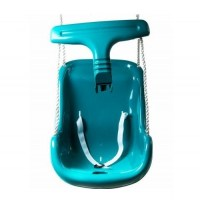 turquoise high back baby seat
