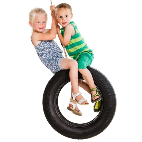 tyre swing seat single vertical